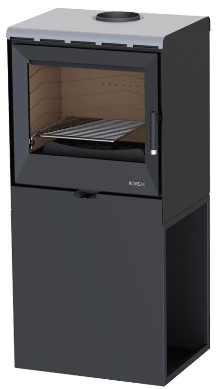 Boreal E3000 stříbrná - kamna krbová odborný prodejce levně!