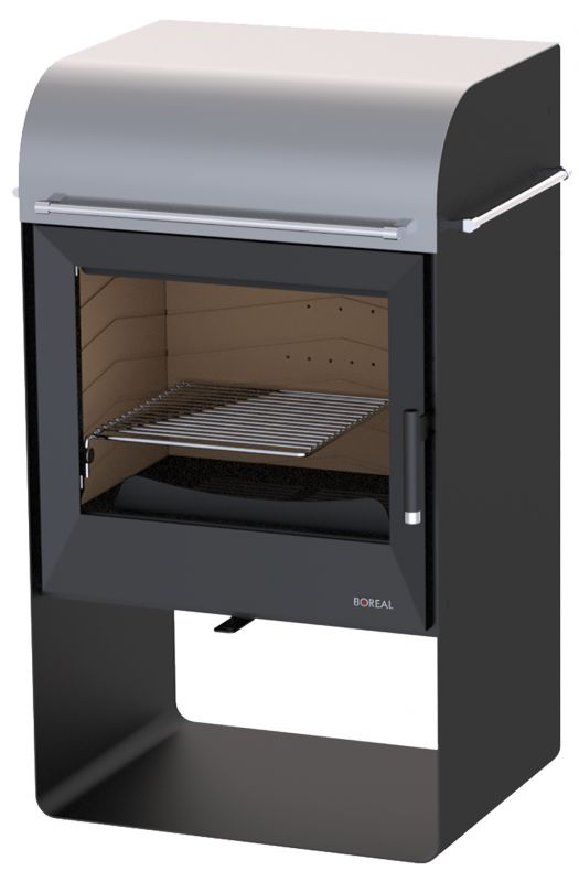 Boreal E4000 stříbrná - kamna krbová odborný prodejce levně!