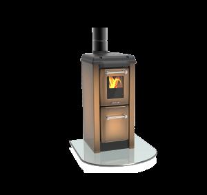 Colonnina 170 NV hnědá - kamna s plotýnkou
