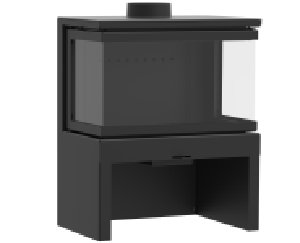 KFD STO M 14 3F - kamna třístranné sklo KF Design odborný prodejce levně!
