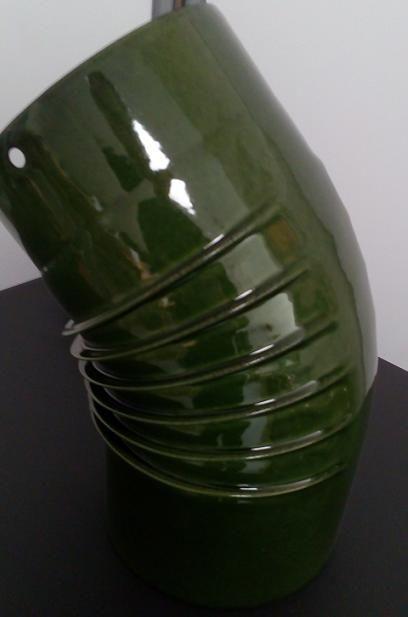 Koleno 150 mm/45 st. s smalt zelená majolika Dovre odborný prodejce levně!