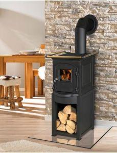 PLUTO - litinová kamna s plotýnkou Globe-Fire odborný prodejce levně!