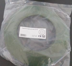 Růžice 150 mm smalt zelená majolika