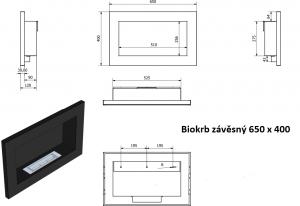 Biokrb závěsný 650 x 400 bílá lesklá GM odborný prodejce levně!