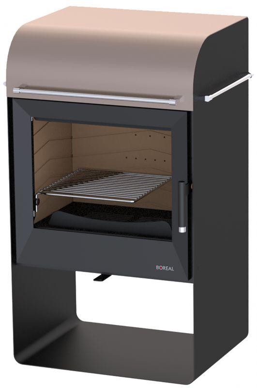 Boreal E4000 krémová metalická - kamna krbová, VÝSTAVNÍ KUS odborný prodejce levně!