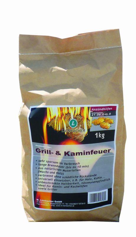 Podpalovač pro krby, kamna, grily - 1 kg sáček Lienbacher odborný prodejce levně!