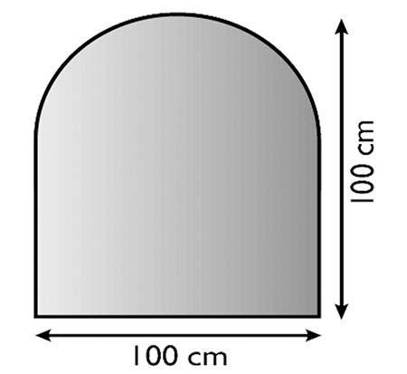 Sklo pod kamna s obloukem 100 x 100 cm tl. 8 mm Lienbacher odborný prodejce levně!