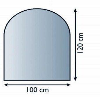Sklo pod kamna s obloukem 100 x 120 cm tl. 8 mm Lienbacher odborný prodejce levně!