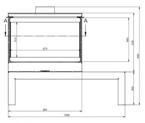 KFD STO Max 14 3F - kamna třístranné sklo KF Design odborný prodejce levně!
