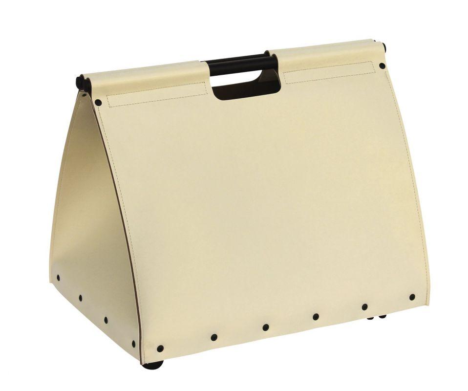 Luxusní krbový koš kabelka kůže béžová Lienbacher odborný prodejce levně!