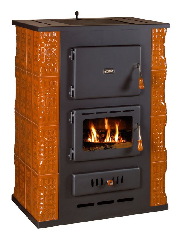 Kachlová krbová kamna s teplovodním výměníkem PRITY S3 W13 K, hnědá odborný prodejce levně!
