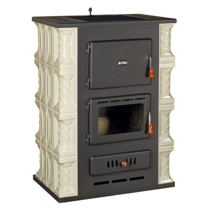 Kachlová krbová kamna s teplovodním výměníkem PRITY S3 W13 K, bílá odborný prodejce levně!