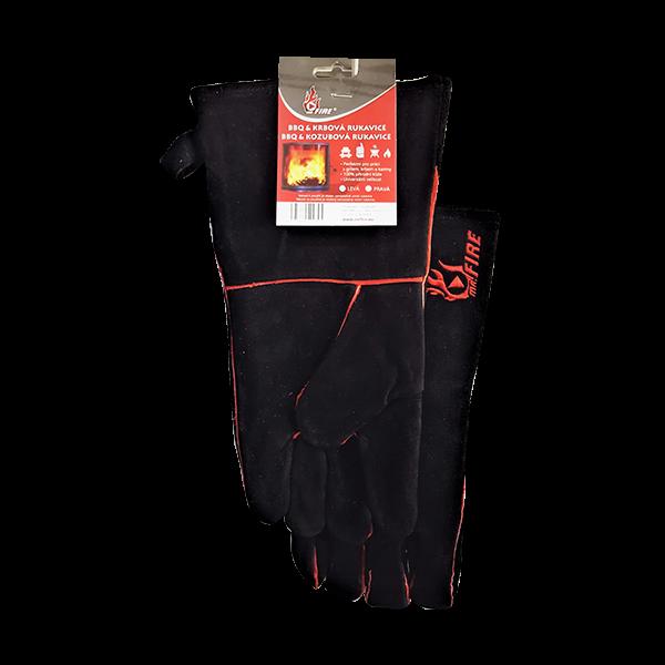 Krbová a BBQ rukavice žáruvzdorná kožená Mr. Fire odborný prodejce levně!