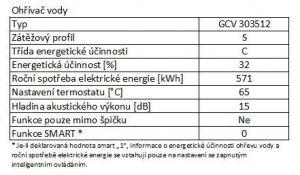 Elektrický ohřívač vody Tesy Promotec GCV 303512 D07 TRC odborný prodejce levně!