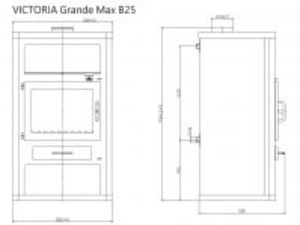 Krbová kamna s výměníkem VICTORIA Grande Max B25 odborný prodejce levně!