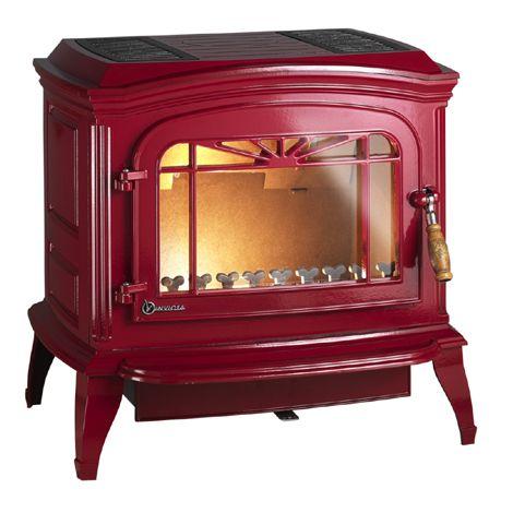 Krbová kamna BRADFORD červená - smalt ref.: 6173-47 odborný prodejce levně!