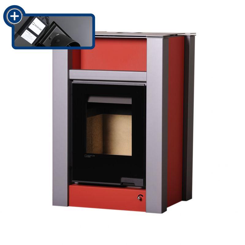 Krbová kamna AQUAFLAM VARIO ® LEND 11/5kW červená, elektronická regulace odborný prodejce levně!