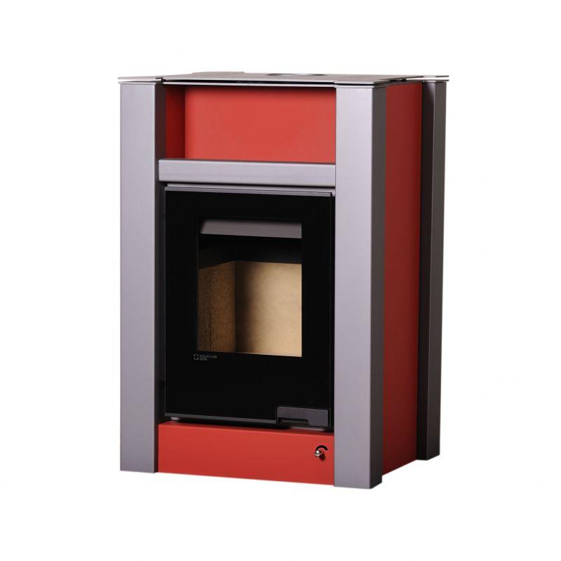 Krbová kamna AQUAFLAM VARIO ® LEND 11/7kW červená odborný prodejce levně!