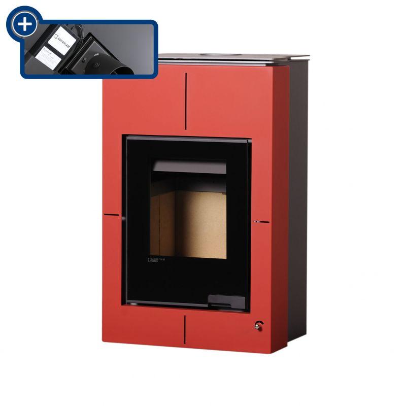 Krbová kamna AQUAFLAM VARIO SAPORO 11/5kW červená, elektronická regulace odborný prodejce levně!