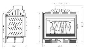 Krbová vložka UNIFLAM 600 s klapkou ref. 601-595 odborný prodejce levně!